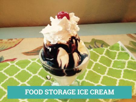 FOOD STORAGE ICE CREAM REC