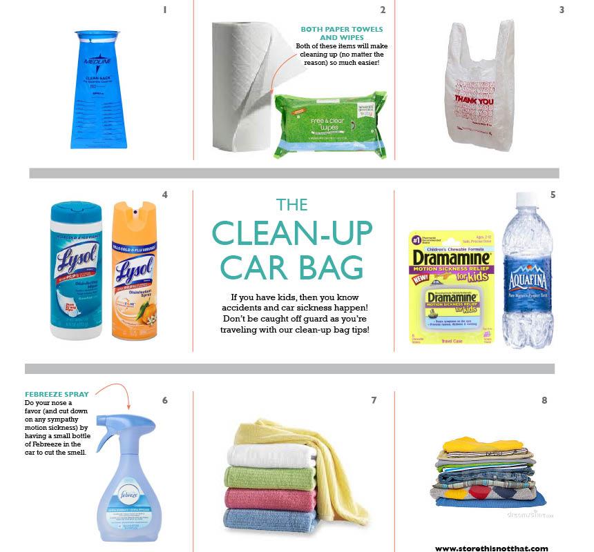 clean up car bag
